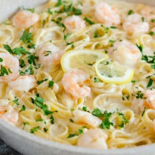Creamy Lemon Shrimp Pasta