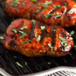 Korean Glazed Grilled Pork Chops