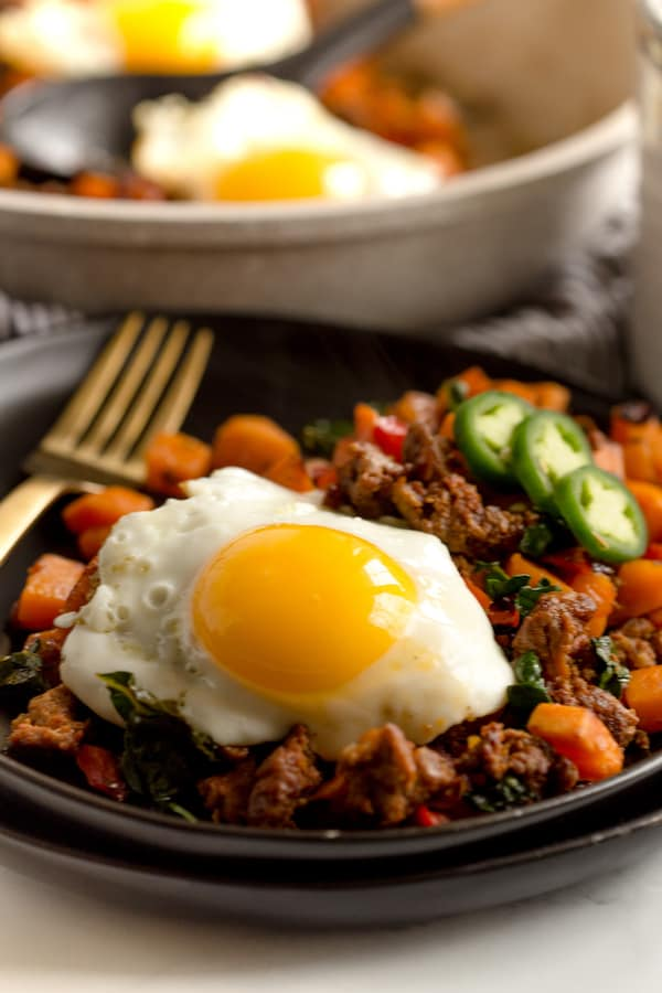 Sweet Potato Chorizo Hash