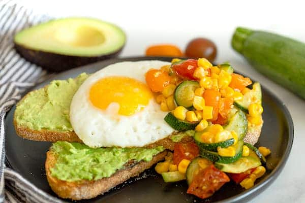 Summer Vegetable Avocado Toast