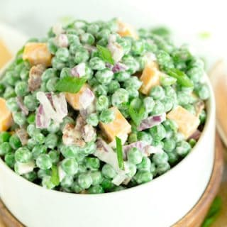 Creamy Bacon and Pea Salad