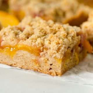 Nectarine Crumble Bars
