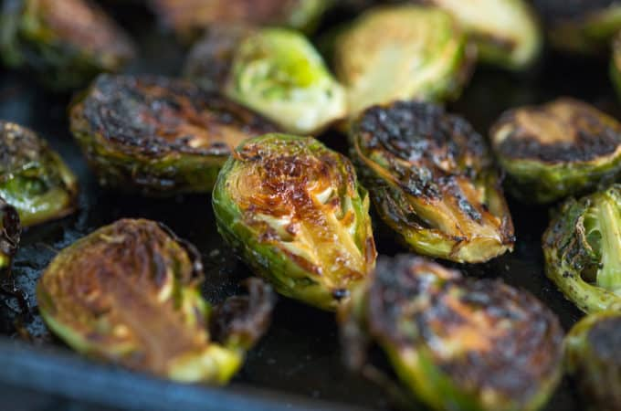 Honey Balsamic Roasted Brussels Sprouts