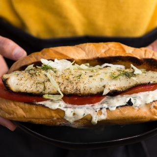 Grilled Walleye Sandwiches