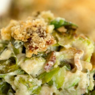 Bacon Brussels Sprout Gratin