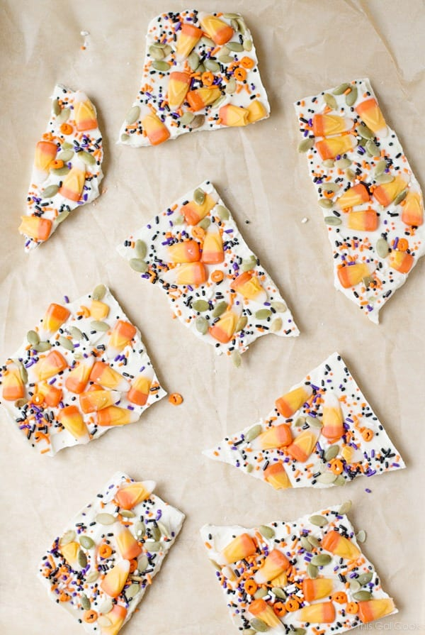 Candy Corn Halloween Bark