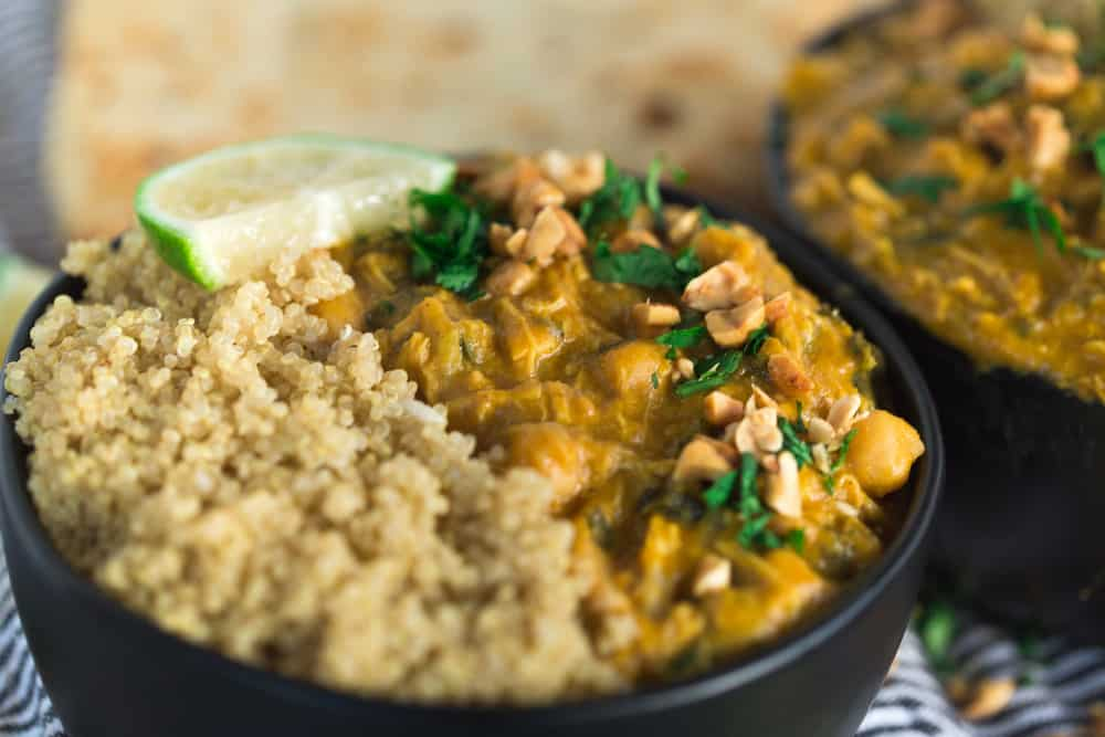 Pumpkin Peanut Chicken Curry