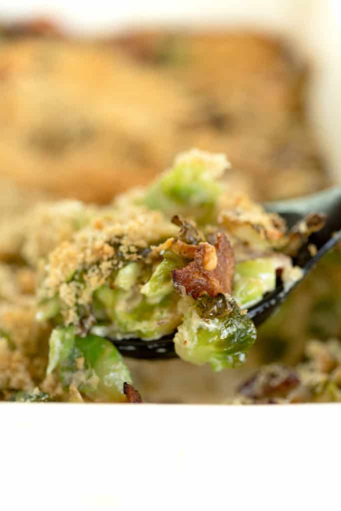 Bacon and Brussels Sprout Gratin