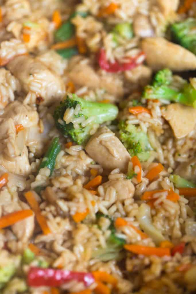 One Skillet Teriyaki Chicken and Rice