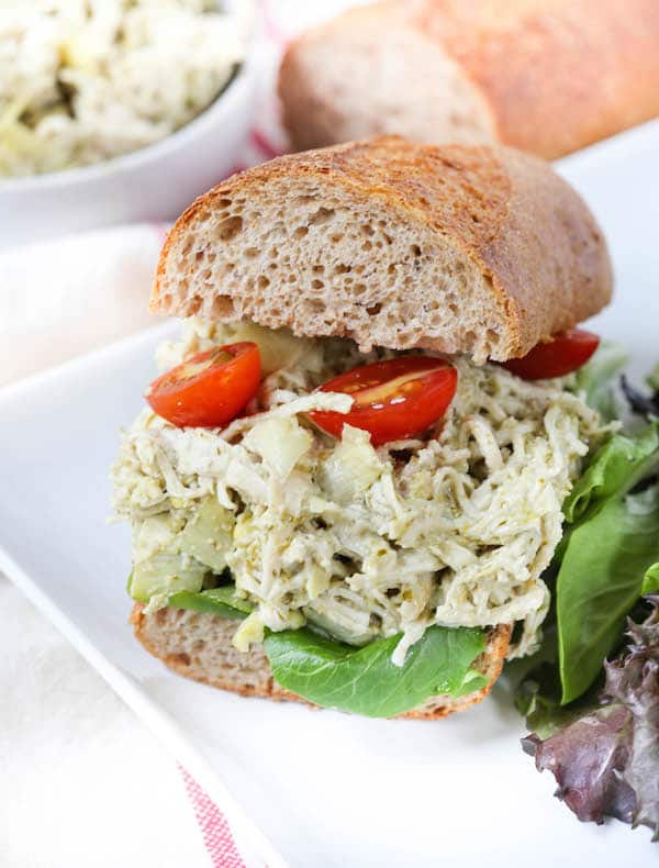 Artichoke Pesto Chicken Salad
