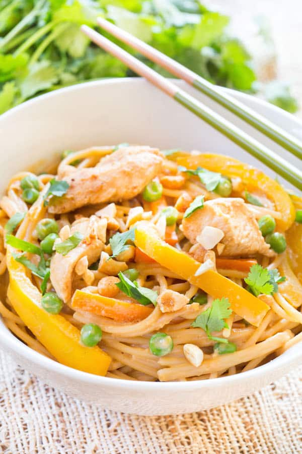 Thai Peanut Chicken Noodles