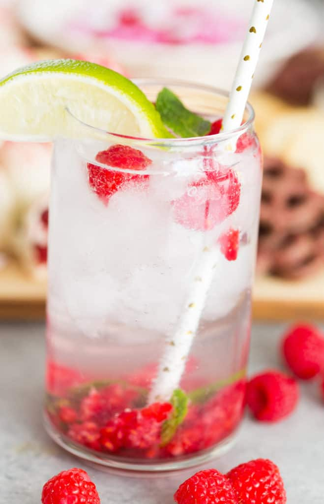 Raspberry Mojito Mocktail