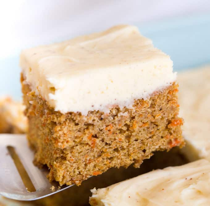 Carrot Cake Bars with Brown Butter Frosting