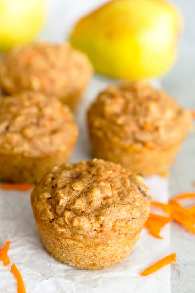 Carrot Pear Muffins