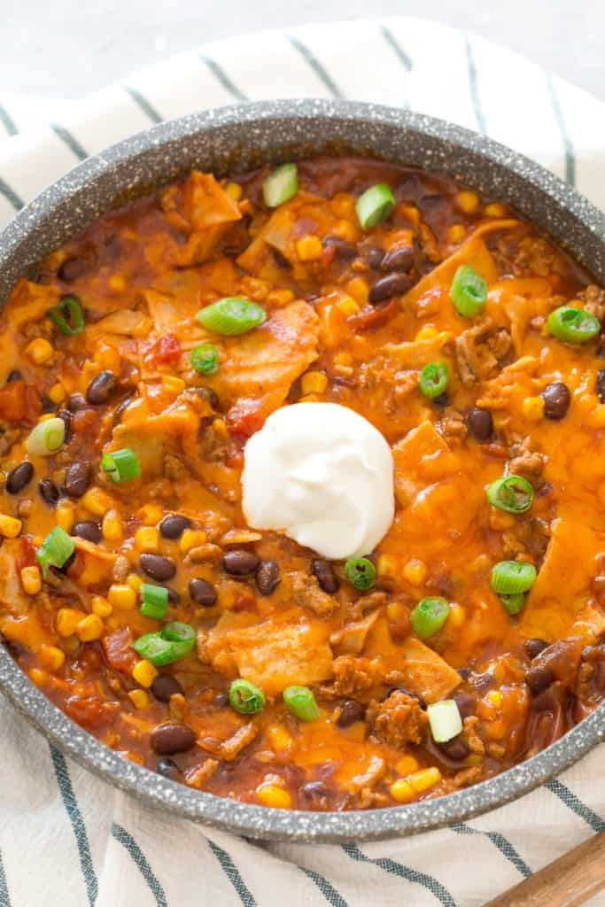 Turkey Black Bean Enchilada Skillet