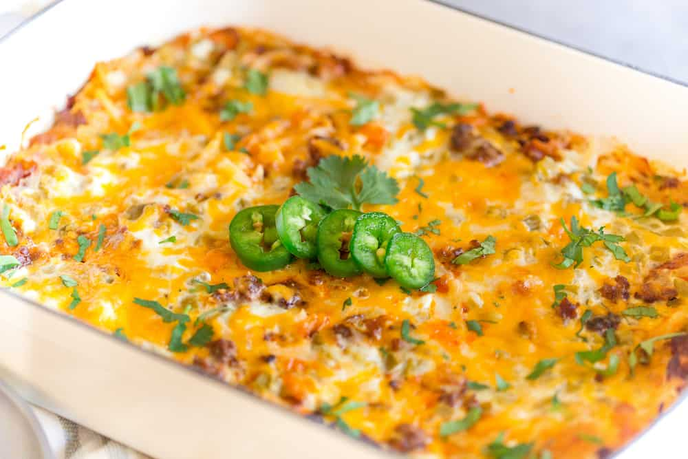 Chorizo Hash Brown Breakfast Casserole