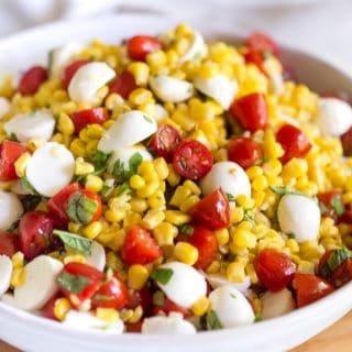Summer Corn Caprese Salad