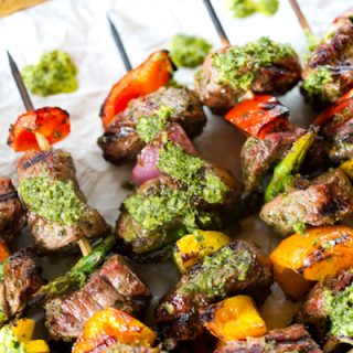 Chimichurri Steak Kabobs