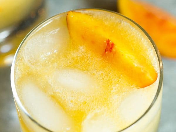 Ginger Peach Vodka Cocktail