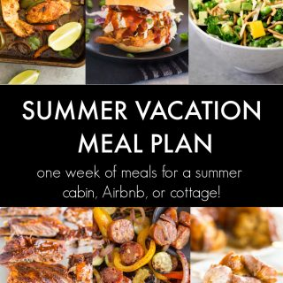 Summer Vacation Meal Plan