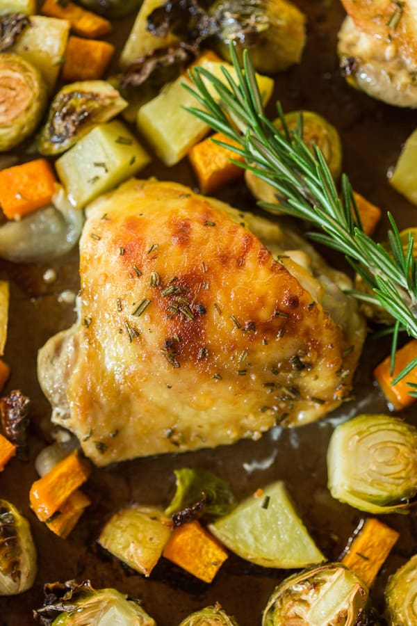 One Pan Rosemary Chicken and Vegetables