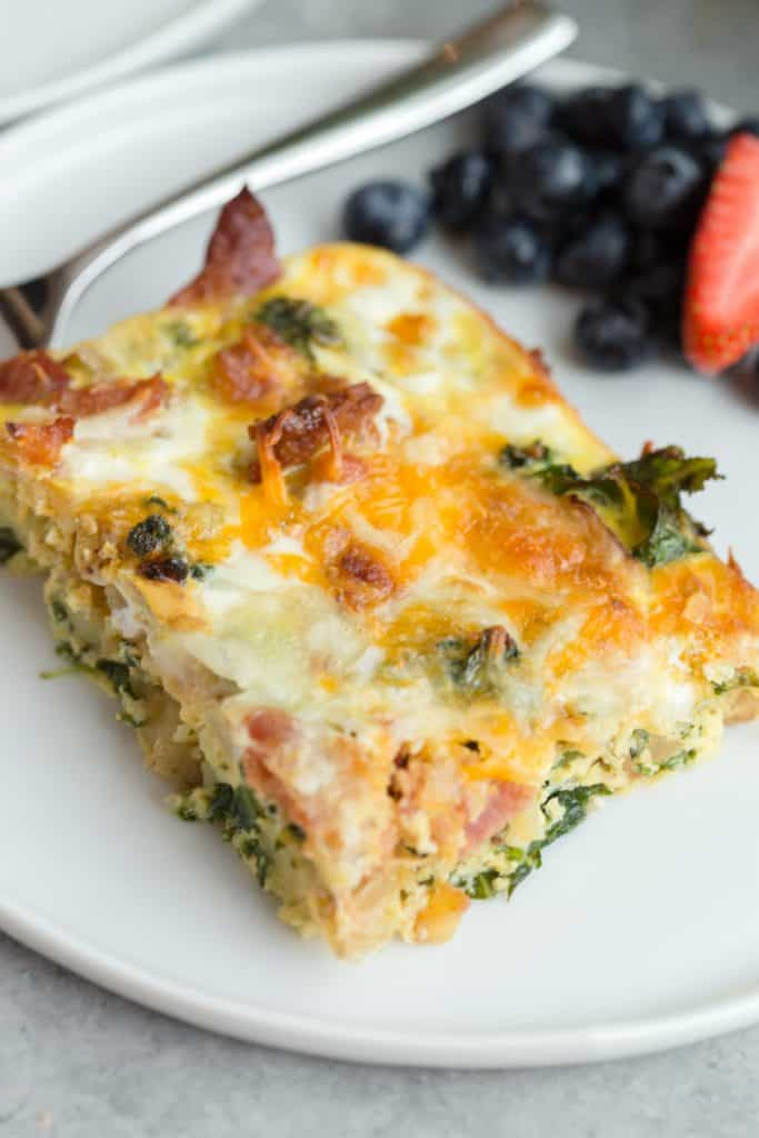 Bacon Potato Kale Egg Bake