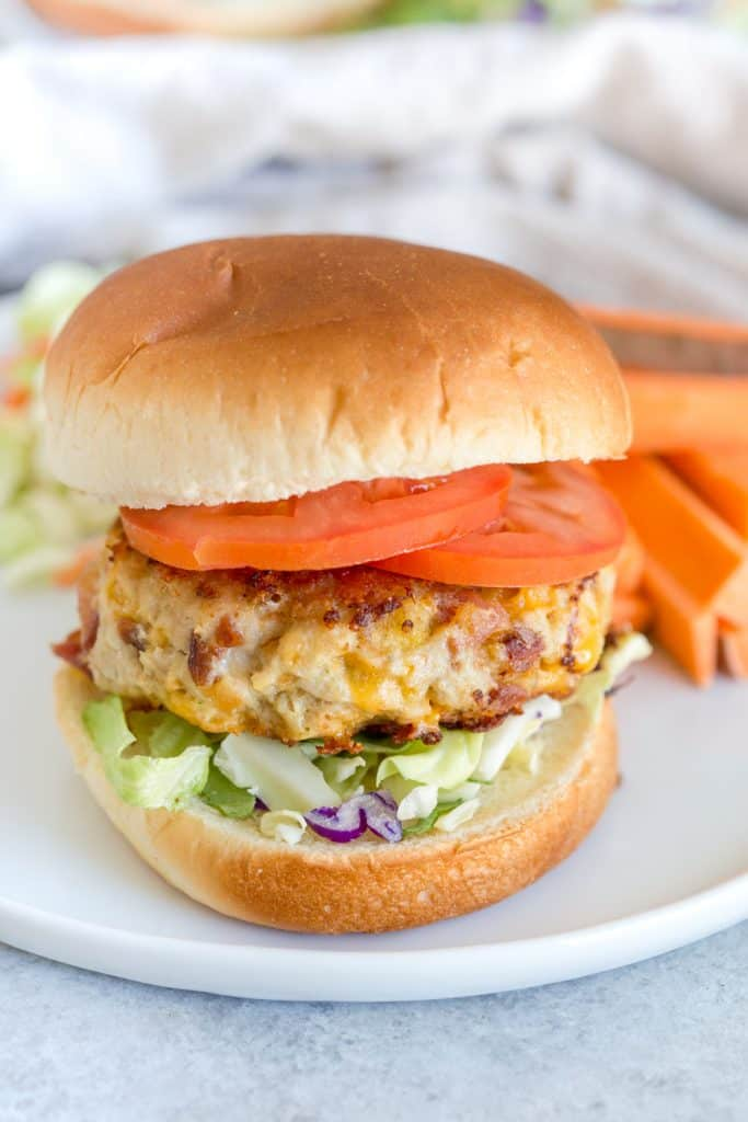 Cheddar Bacon Ranch Chicken Burgers