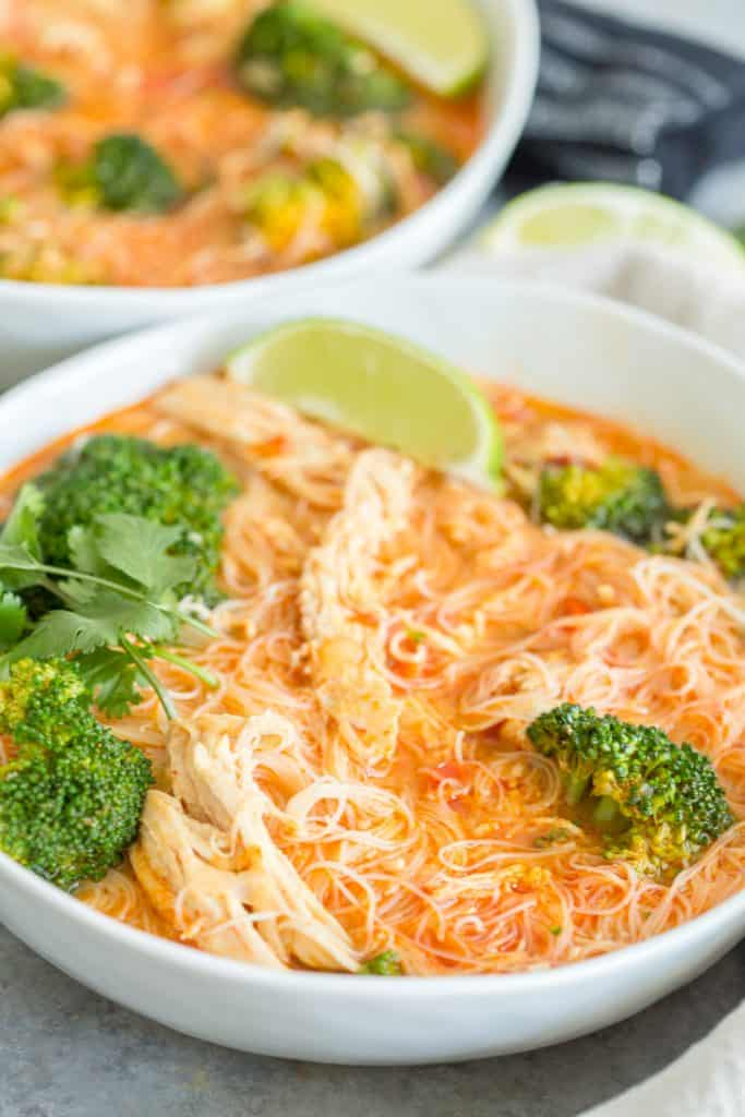 Instant Pot Coconut Curry Chicken Noodle Soup