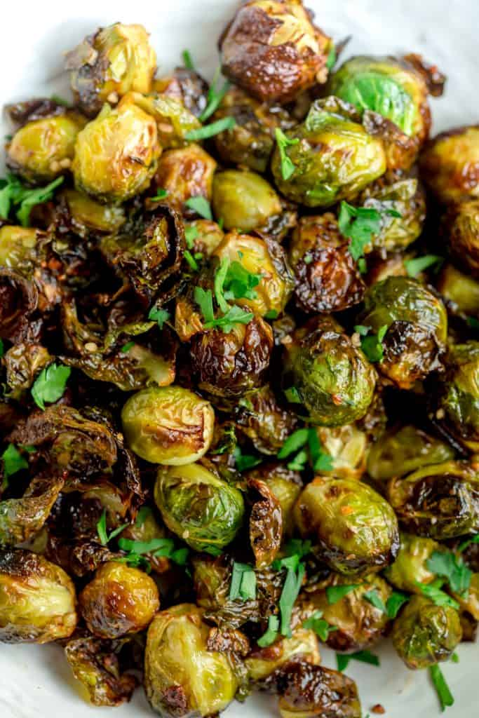 Sweet and Spicy Air Fryer Brussels Sprouts