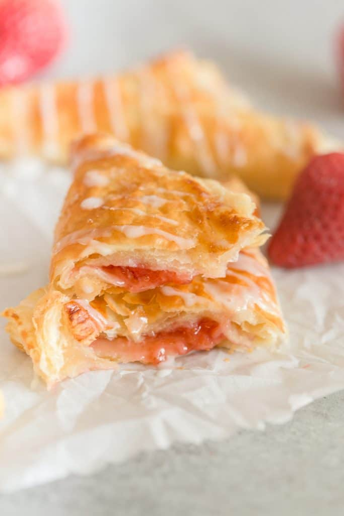 Strawberry Puff Pastry Turnovers