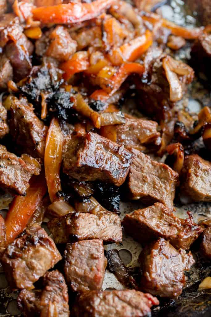 Grilled Korean Steak and Peppers